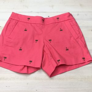 J. Crew pal tree embroidered side zip shorts sz 2